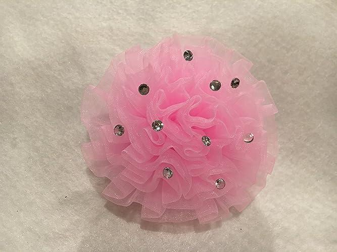 Amazon pink chiffon puff hair clip chiffon flower flower hair pink chiffon puff hair clip chiffon flower flower hair bow flower hair clip mightylinksfo Images