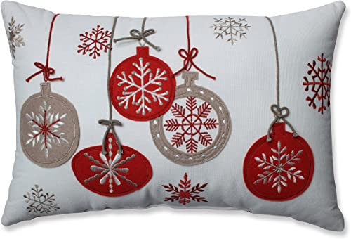 Pillow Perfect Country Home Ornaments Red White Rectangular Throw Pillow
