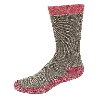 Carolina Ultimate Ladies Heavyweight Merino Wool Blend Boot Socks, Grey/Fuchsia, (M) Shoe Size 6-9, 1 Pair: Clothing