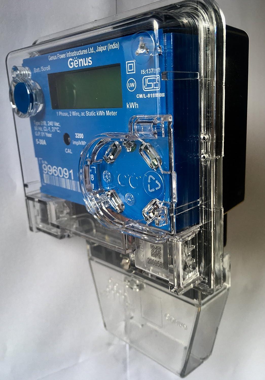 Genus Sub Meter Single Phase AC Static LCD Display (Class-1): Amazon ...