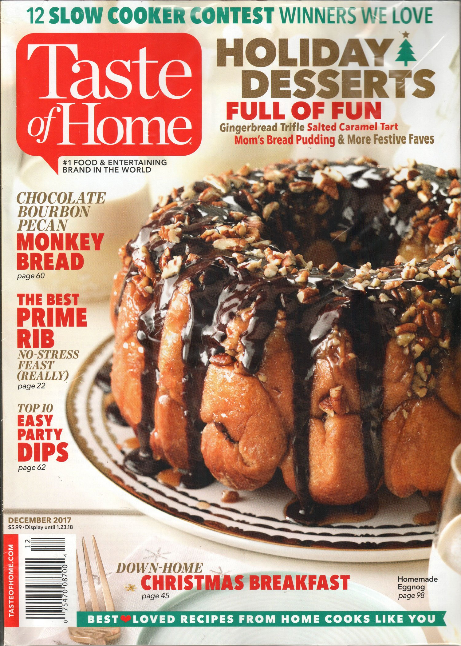 Taste of Home Magazine December 2017   Holiday Desserts
