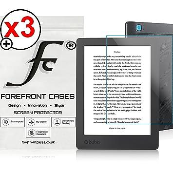 Forefront Cases® 3 x Protector De Pantalla para Kobo Aura H2O 6.8 ...