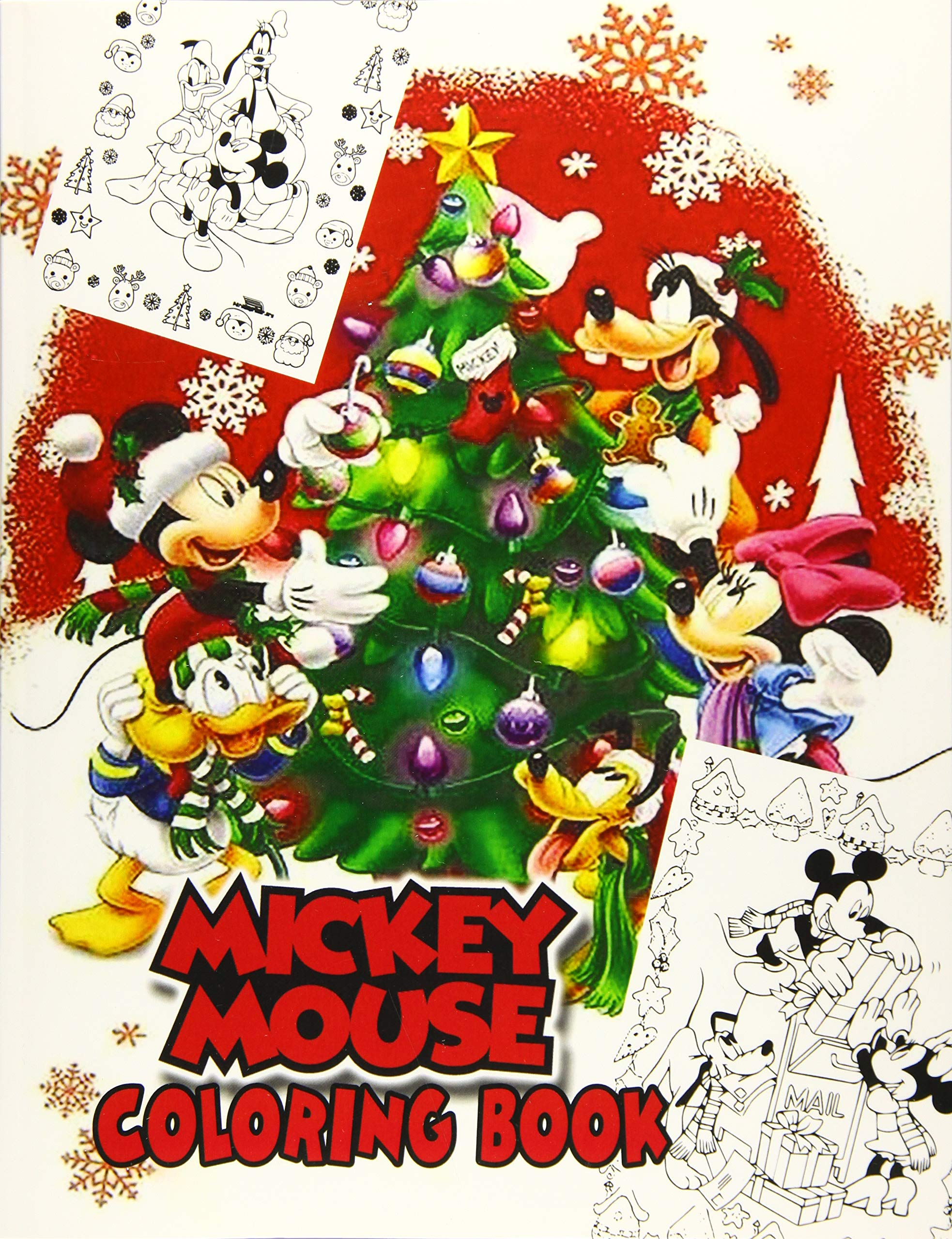 - Mickey Mouse Coloring Book: Christmas Edition: 50+ Mickey Mouse