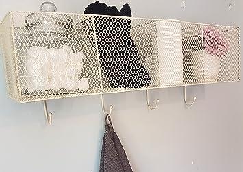 Vintage Industrial estilo cesta de estantería de pared con ...