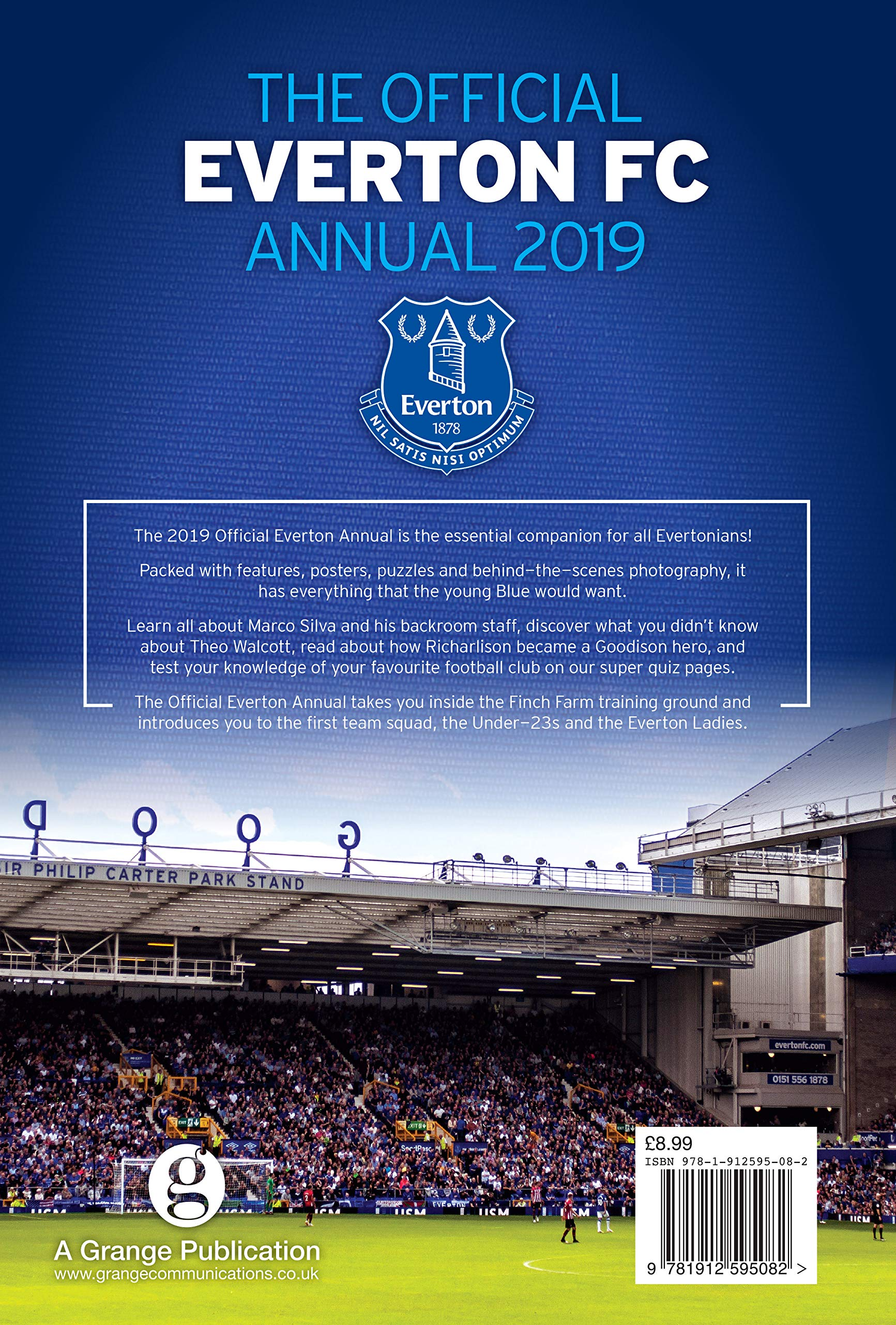 9261d16ad The Official Everton FC Annual 2019  Amazon.co.uk  Darren Griffiths   9781912595082  Books