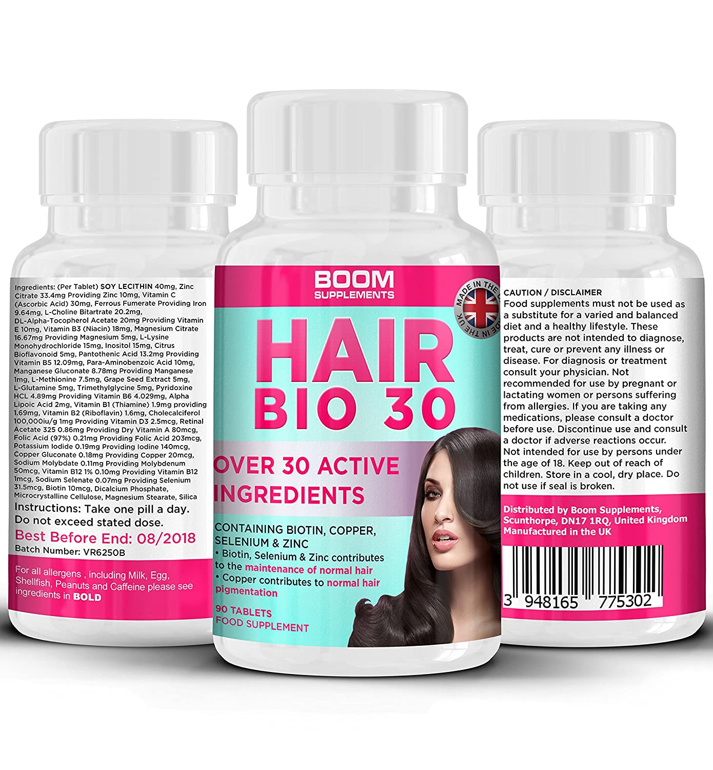 |Hair Growth Supplements || Hair Growth Tablets || Biotin Hair Treatment || 90 Natural Hair Thickener Tablets || 3 Month Supply || Helps Grow Hair For Women || Achieve Thicker, Fuller Hair FAST || Safe And Effective || Best Selling Hair Growth Pills || Man