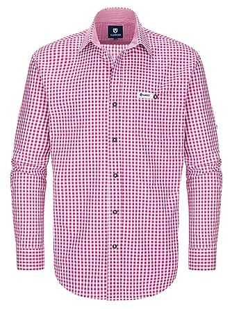 Almbock Trachtenhemd Herren Kariert   Slim-Fit Männer Hemd in Vielen Karo  Farben   Hemd aus 100% Baumwolle in Den Größen S-XXXL  Amazon.de  Bekleidung 216706a7ad