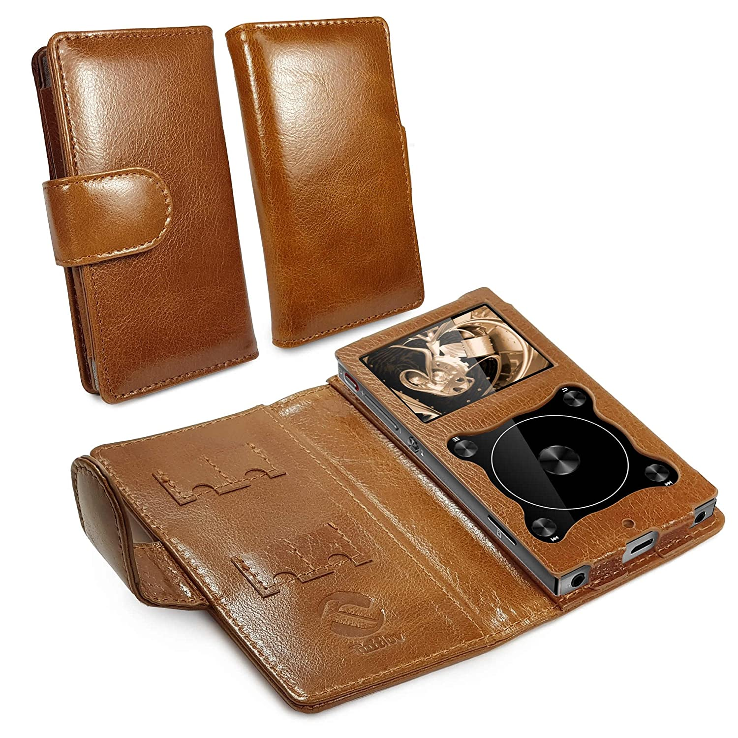 Tuff Luv Genuine Vintage Leather Case Cover for Fiio X3 Mark III 3 - MP3 - Brown A11_81_5055261847388