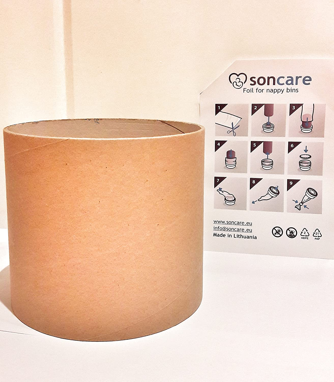 Recharges Poubelle Compatibles Sangenic Tube en carton pour faciliter la recharge Angelcare Pour Poubelles /à Couches et Anti-Odeurs Liti/ère Litter Locker II