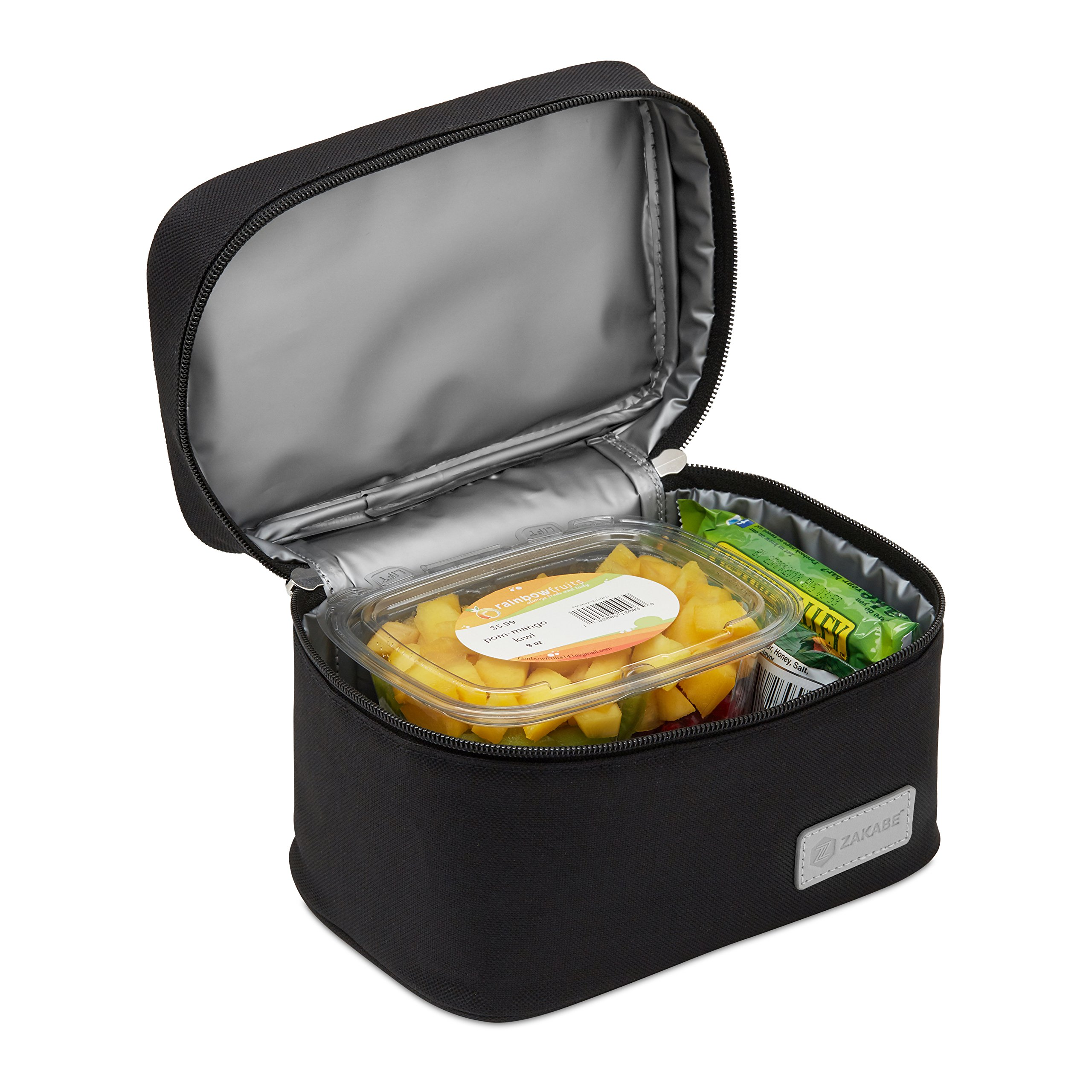 Zakabe Lunch Bag, Lunch Box, Cooler Bag, Set of 2 Sizes, Insulated, for Women, Kids, Adults, Men, Work or School - Black by Zakabe (Image #6)