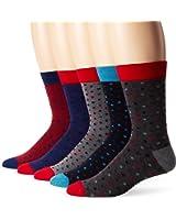 Ben Sherman Men's Conan Crew Socks Gift Box (Pack of 5)