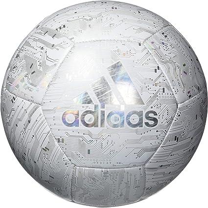 adidas Capitano Balón de fútbol, Blanco/Arco Iris, Reflectante, 3 ...