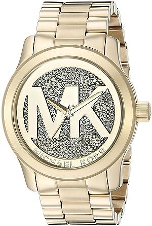 ac226f7aca28 Amazon.com  Michael Kors Women s Runway Gold-Tone Watch MK5706 ...