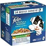 Felix Katzennassfutter So gut wie es aussieht Geschmacksvielfalt vom Land mit Gemüse, 24x100g Portionsbeutel