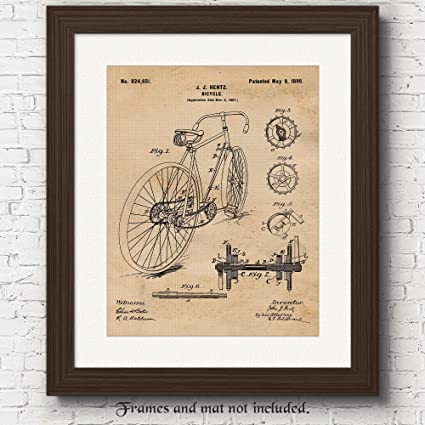 Original Racing Bicycle Patent Art Poster Print - 11x14 Unframed - Great Wall Art Decor Gifts