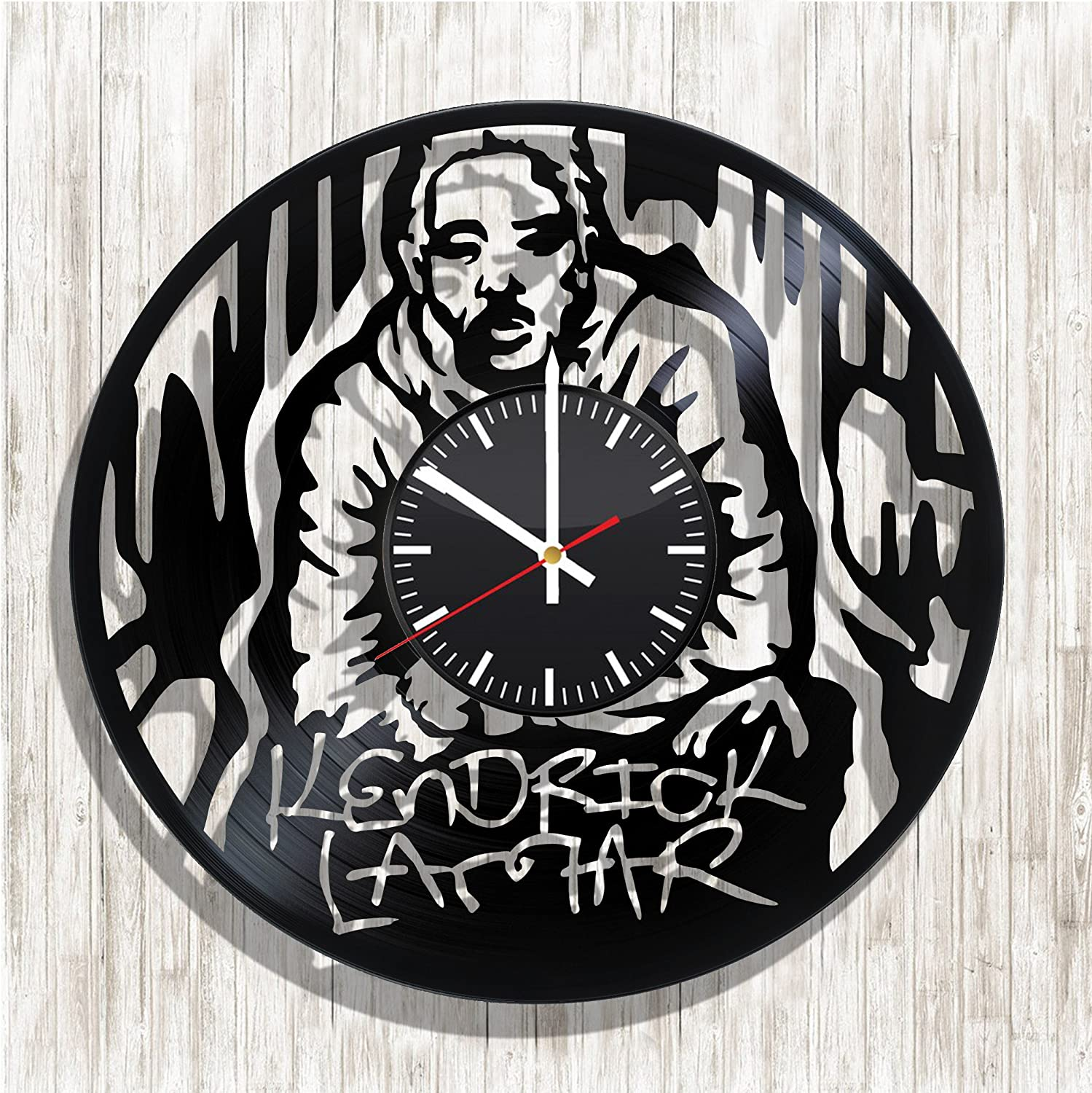 Amazon Com Design Wall Clock Kendrick Lamar Made From Real Vinyl Record Kendrick Lamar Decal Kendrick Lamar Poster Best Gift For Kendrick Lamar Fans Design Art Wall Decor Home Kitchen