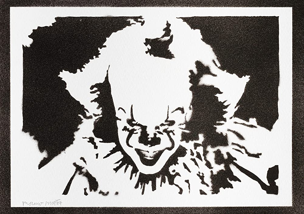 Póster Pennywise IT (Eso) Grafiti Hecho A Mano - Handmade ...