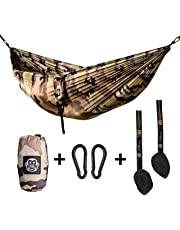 Monkey Swing Hängematte inkl. Aufhängeset für Outdoor, Reise, Garten, Freizeit