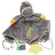 Stephan Baby Chewbie Activity Toy and Teething Blankie, Dinosaur