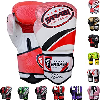 Farabi Boxing Gloves for Training Punching Sparring Farabi Sports