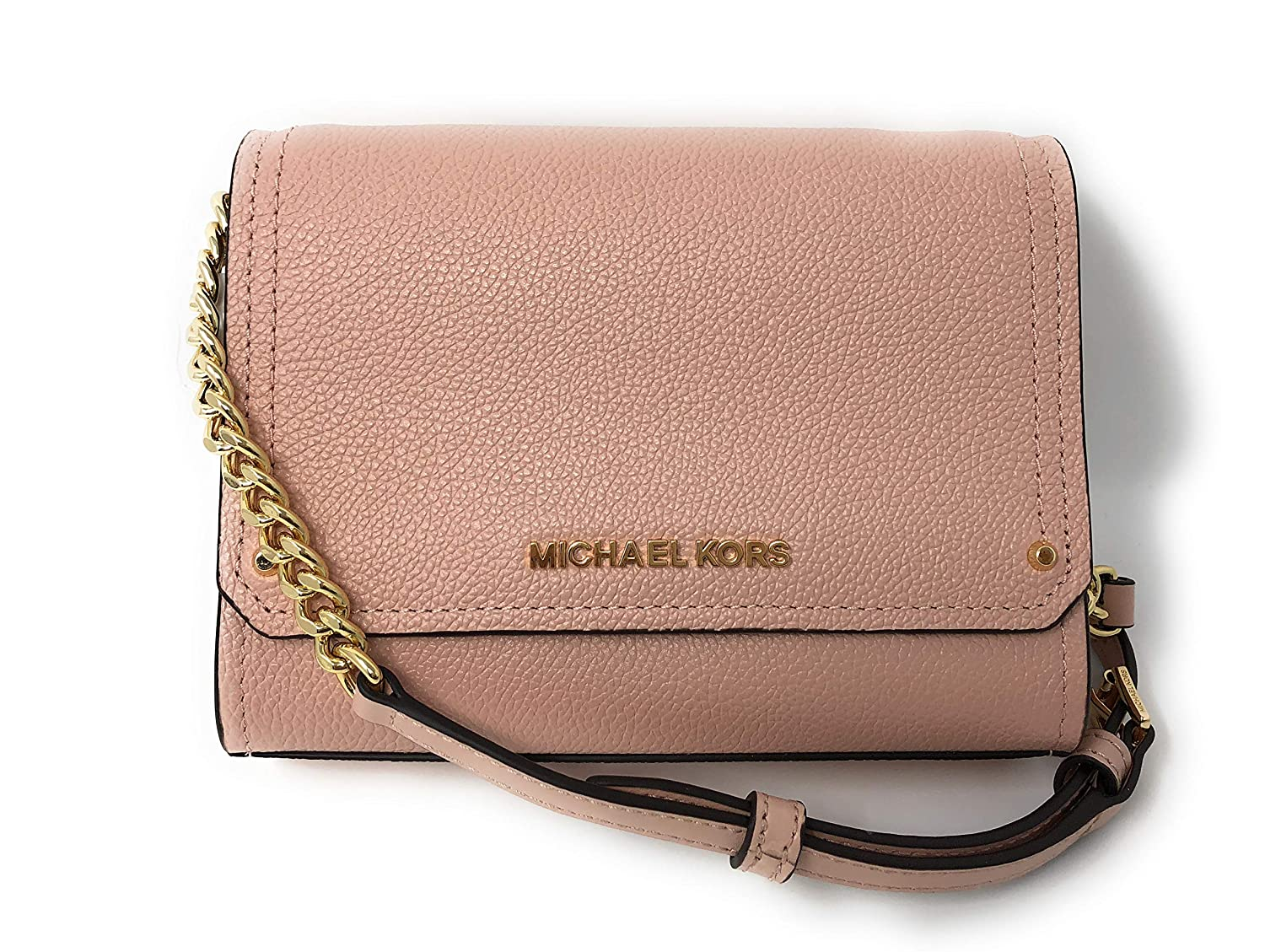 39446fdb91af Michael Kors Hayes Small Clutch Crossbody Bag Pastel Pink Leather   Amazon.co.uk  Clothing