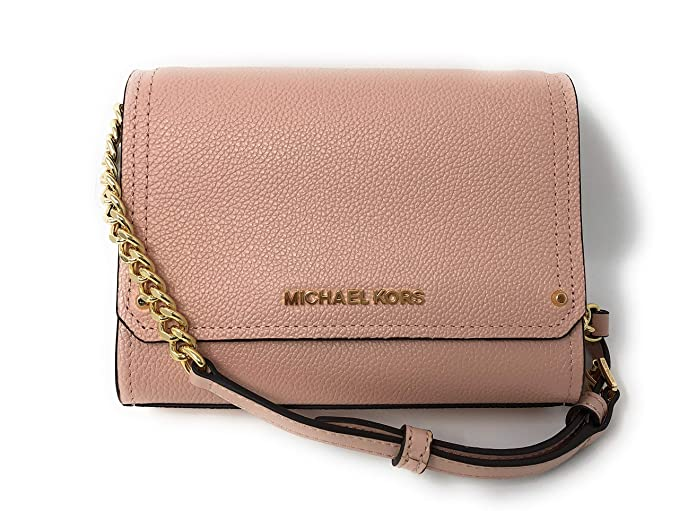 a8dddec7319c Michael Kors Hayes Small Clutch Crossbody Bag Pastel Pink Leather   Amazon.co.uk  Clothing