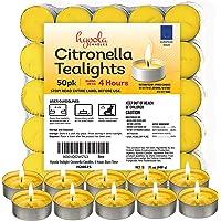 Hyoola Candles - Velas de citronela (50 Unidades)