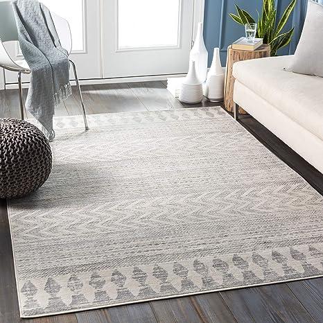 Amazon Com Artistic Weavers Aveline Area Rug 5 3 X 7 1 Light Gray Furniture Decor