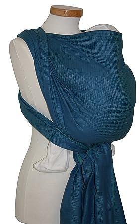 Echarpe de portage courte, Leo, taille au choix, coloris turquoise ... 0b614f6227e