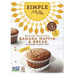 Simple Mills Almond Flour Mix, Banana Muffin & Bread, 9 oz (PACKAGING MAY VARY)