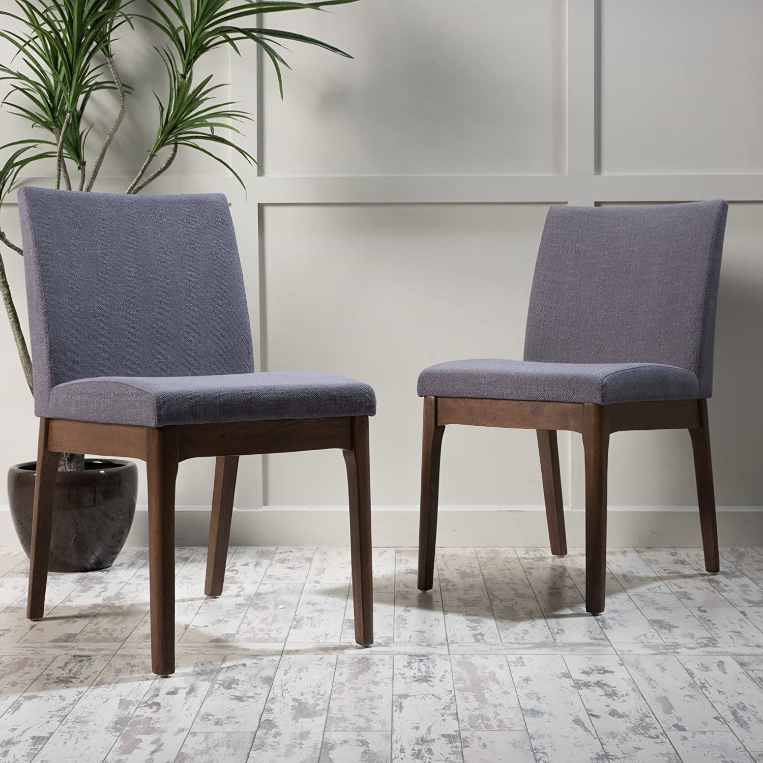 Christopher Knight Home 298987 Kwame Dining Chair (Set of 2), Dark Grey