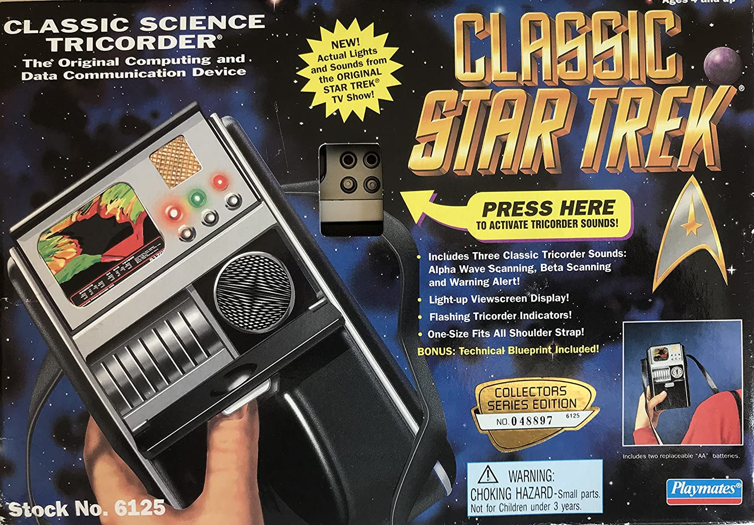 Classic Star Trek Classic Science Tricorder by Playmates: Amazon.co.uk:  Toys & Games