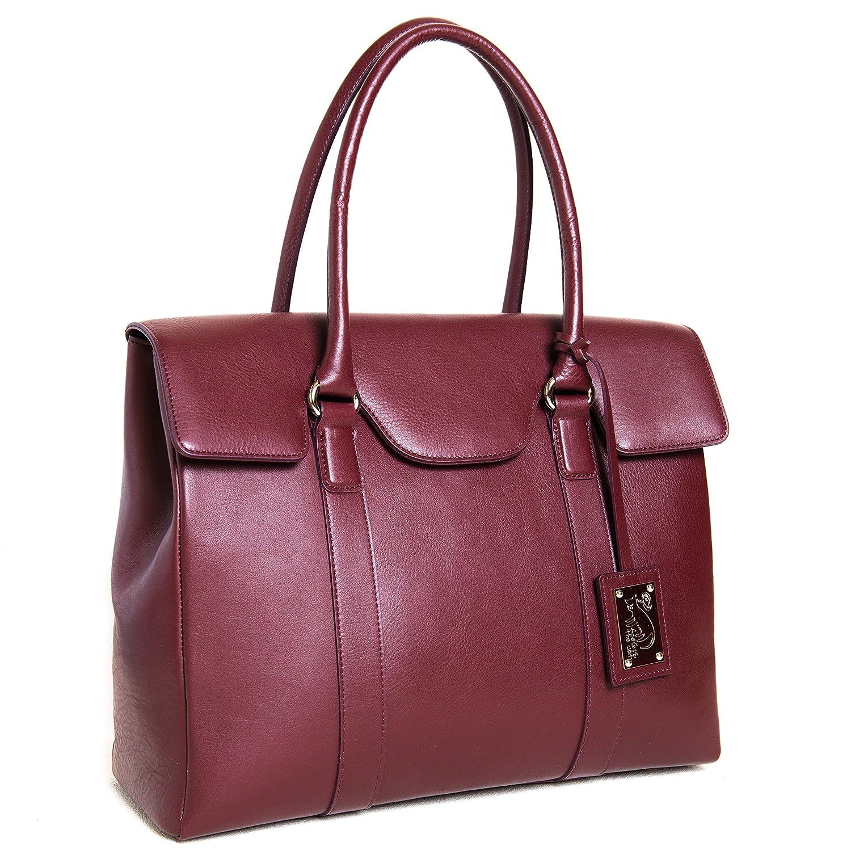 (アンジーザキャット) ANGIE the catレディース ビジネスバッグ 大容量 牛革 女性用 書類バッグ A4B4余裕で収納  ワイン B01D5V2PB2