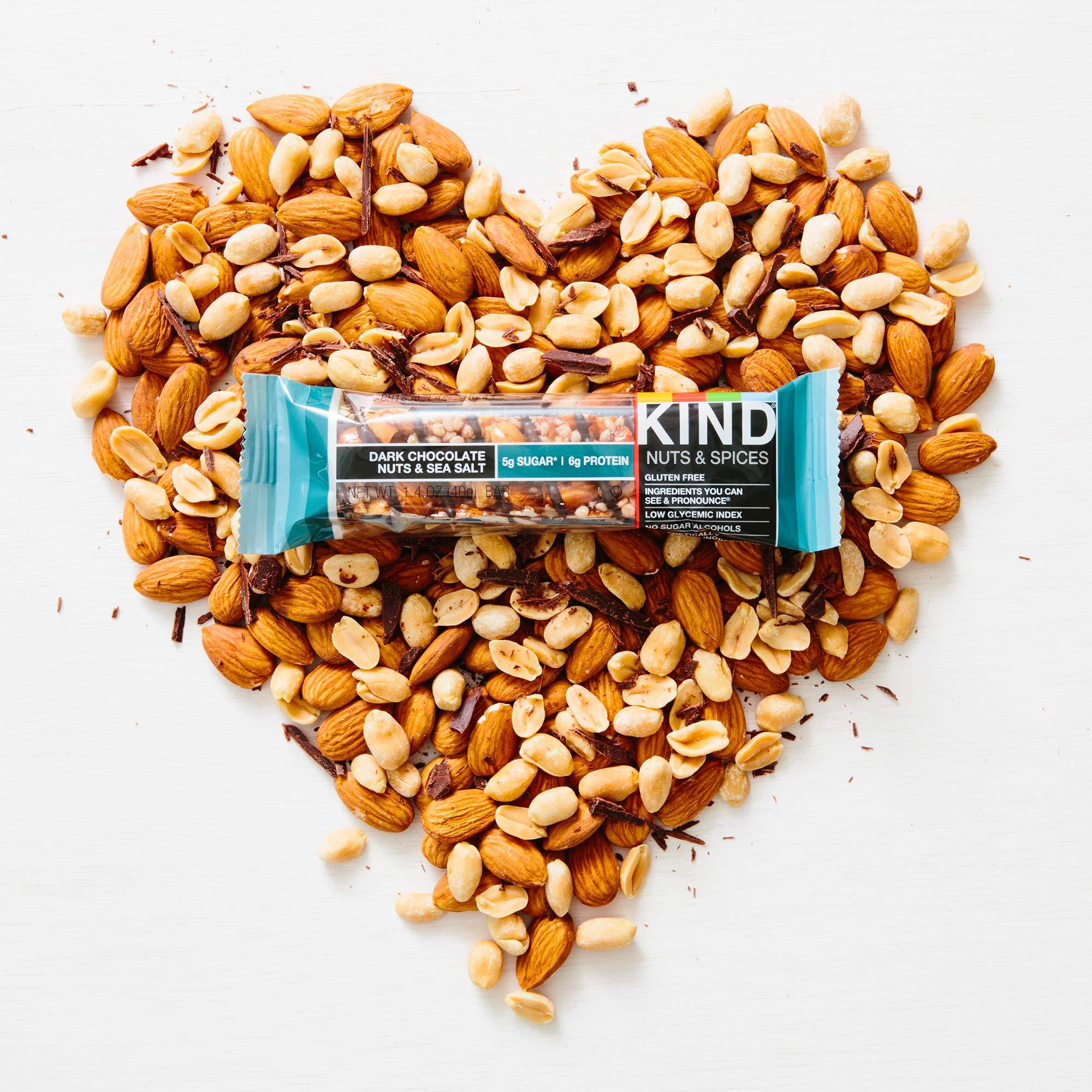 KIND Bars, Dark Chocolate Nuts & Sea Salt, Gluten Free, Low Sugar, 1.4oz, 48 Count by KIND (Image #6)