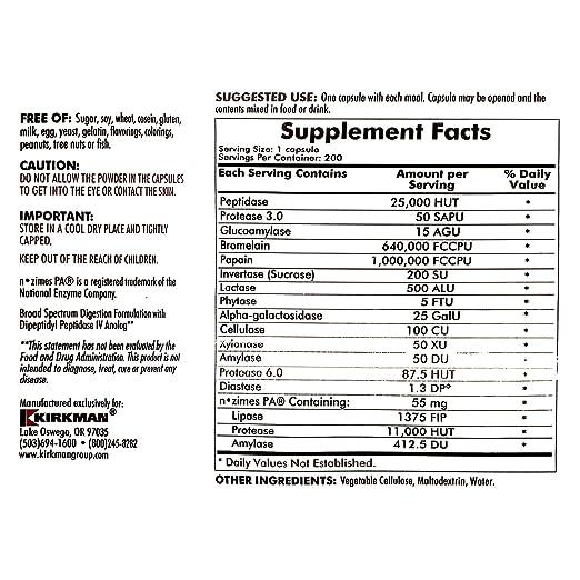 Amazon.com: EnZym-Complete/DPP-IV 200 cápsulas: Health ...