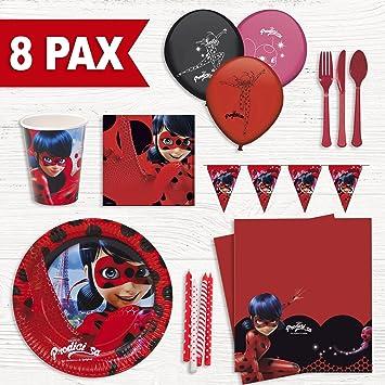Party Fiesta Pack cumpleaños Lady Bug para 8 Personas ...