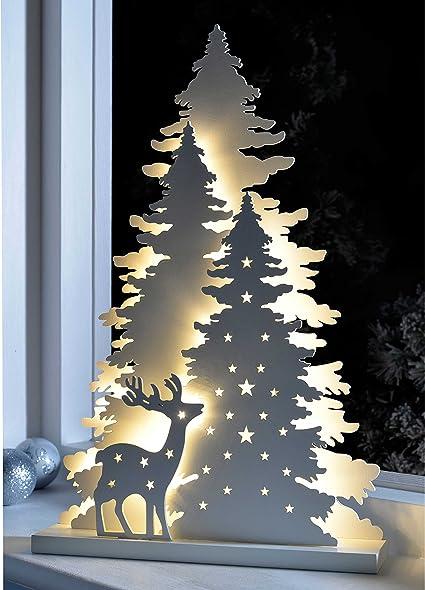 Decorazioni Natalizie Lights4fun Decorazione Natalizia Da Tavolo In Legno Con Scena Invernale E Led Bianco Caldo A Pile Casa E Cucina Tourism Vratsa Net