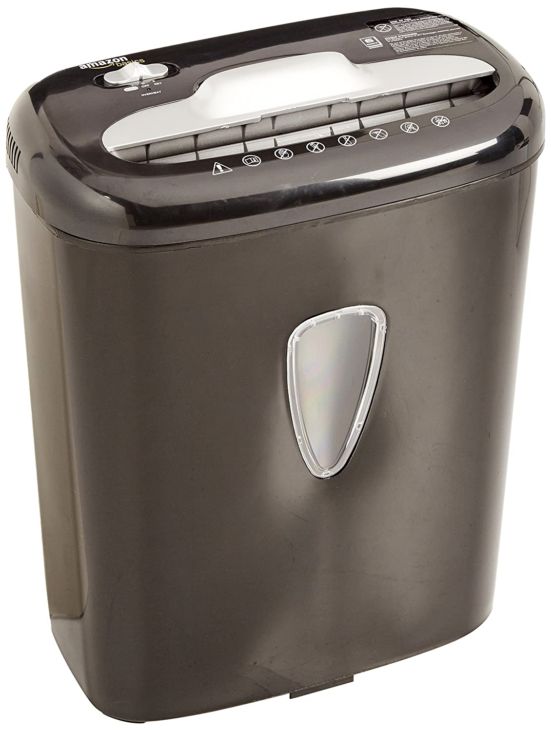 AmazonBasics 6-Sheet High-Security Micro-Cut Paper and Credit Card Shredder AU600MA-Parent