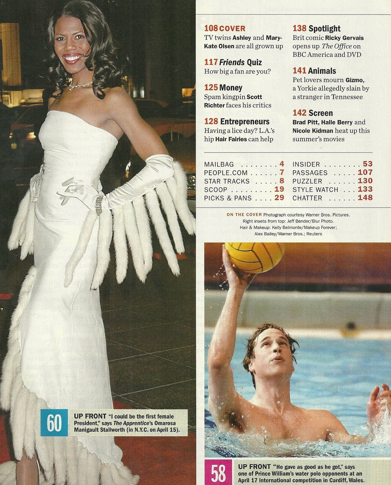Mary-Kate & Ashley Olsen, Omarosa Manigault, Brad Pitt, Prince William - May 3, 2004 People Magazine: Norman Pearlstine: Amazon.com: Books