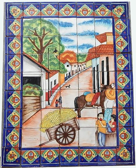 Amazon.com: COLOR Y TRADICIÓN Mexican Talavera Mosaic Mural ...