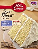 Betty Crocker Super Moist Cake Mix French Vanilla 15.25 oz Box (pack of 6)