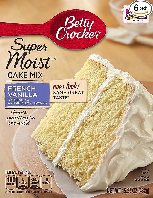 Amazon Com Betty Crocker Baking Mix Super Moist Cake Mix French