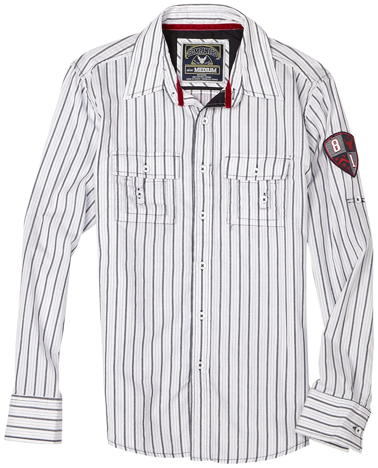 Company 81 Boys Stripe Shirt With Convertable Sleeves