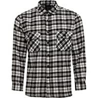 TB Clothing Mens Work Shirts Brushed Cotton Lumberjack Flannel Long Sleeve Check Shirt Woven Material FREE P&P
