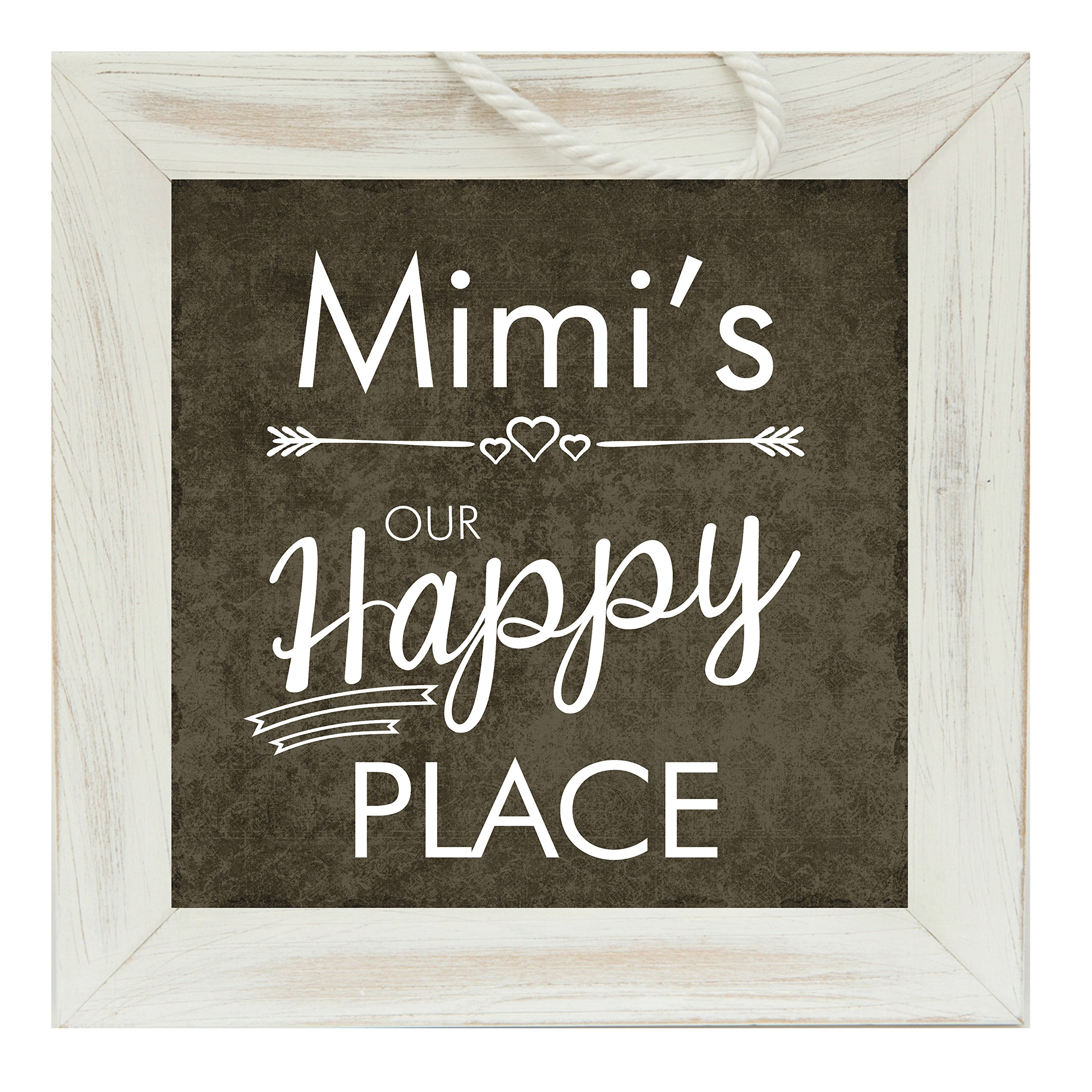 The Grandparent Gift Mimi Frame Happy Place Grandparent Sign by The Grandparent Gift Co.