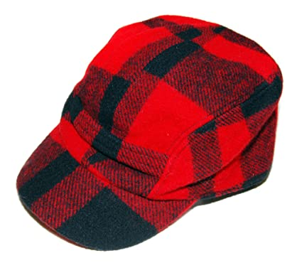 d57eec54a25 Polo Ralph Lauren Mens Hunting Buffalo Check Plaid Trappers Wool Hat Red  Black at Amazon Men s Clothing store
