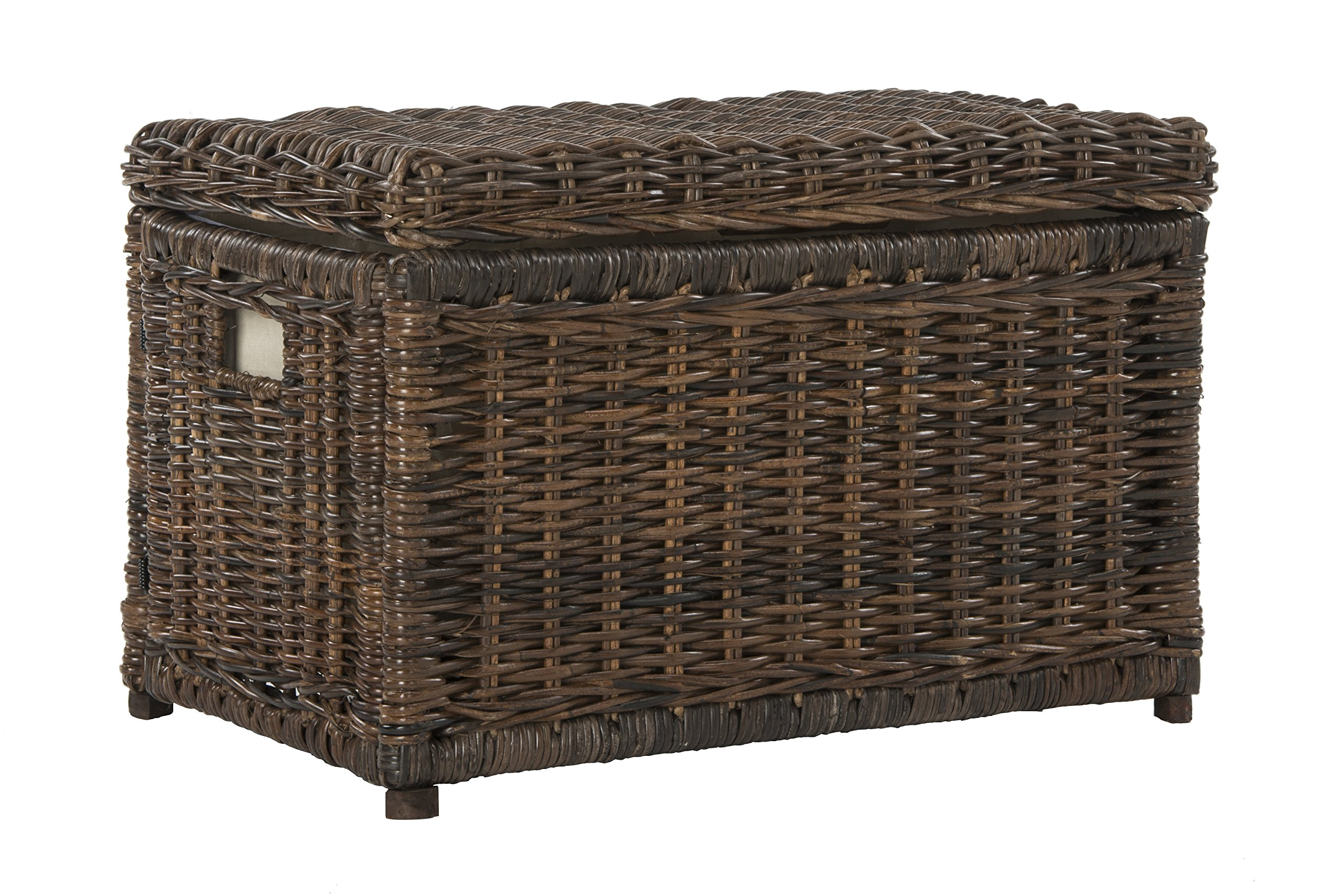 happimess Elijah 30'' Wicker Storage Trunk, Brown by happimess