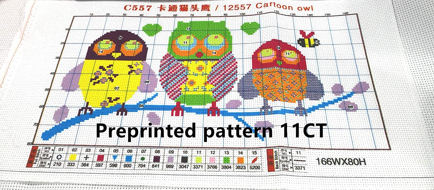 Strawberry CaptainCrafts New Stamped Cross Stitch Kits Preprinted Pattern Counted Embroidery Starter Kits for Beginner Kids and Adults Stamped 11CT
