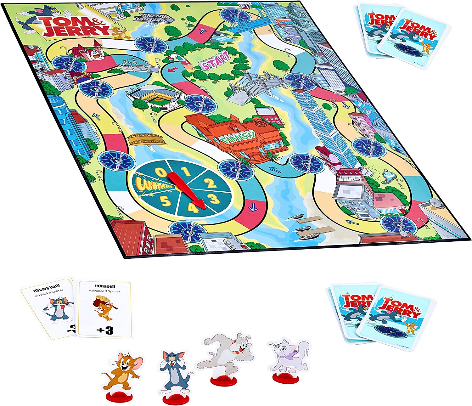 Tom /& Jerry City Race Board Game