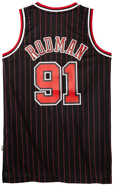 Adidas NBA Chicago Bulls de Negro Jersey Dennis Rodman # 91, NBA, Dennis Rodman, Hombre, Color Chicago Bulls, tamaño Large: Amazon.es: Deportes y aire libre